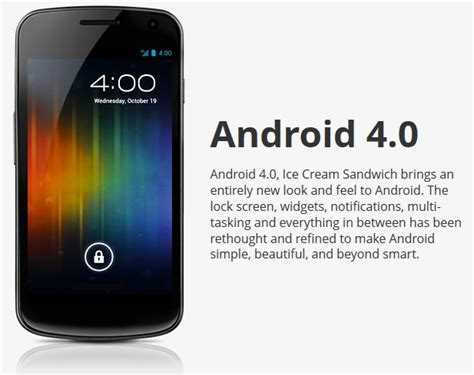 android 4 0 icecream sandwich galaxy nexus with android 4 0 sandwich