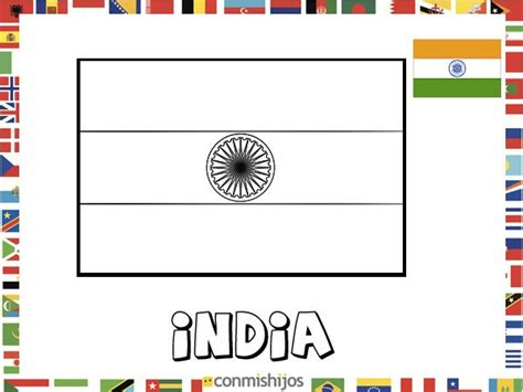 dibujos de banderas del mundo para imprimir bandera de india dibujos de banderas para pintar