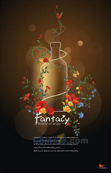 creative poster design vector bottle creative poster design vector free vector graphic