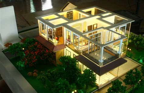 miniature homes models lighting architectural model maker beautiful house