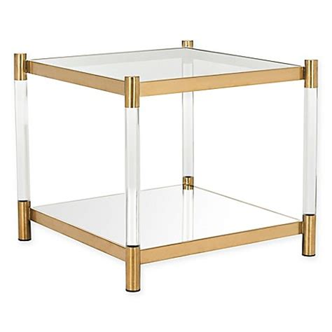 acrylic accent table safavieh couture shayla acrylic accent table in brass