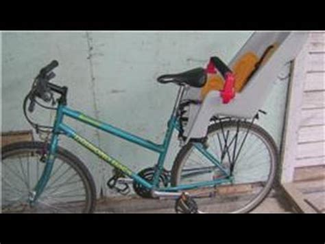 bike seat cl install bicycle equipment how to install a child carrier on a