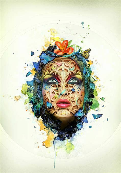tutorial photoshop graphic design how to create a beautiful abstract portrait in photoshop