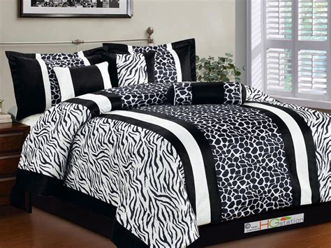 black faux fur comforter 11p faux fur safari striped zebra giraffe comforter