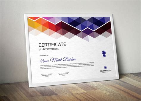 certificate design ideas print ready certificate of attendance template
