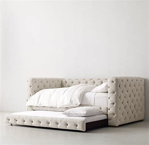 Tufted Daybed With Trundle Tribeca Tufted Daybed With Trundle Daybed Obsession Plush Platform And Buttons