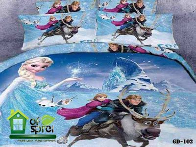Sprei Set Anak Katun Jepang Fish 120x200x30 sprei katun jepang frozen houseofspreiku