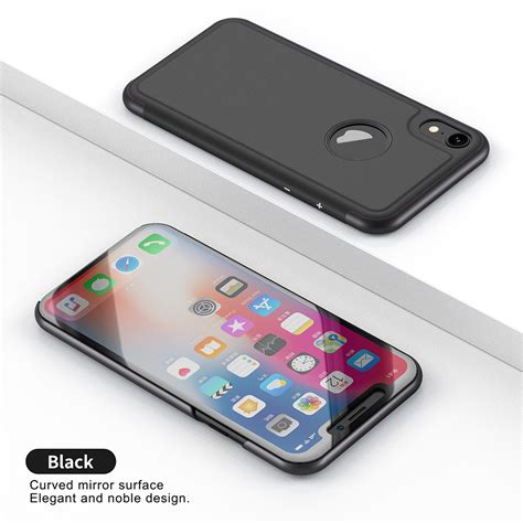 for iphone xs max xr luxury smart view mirror leather flip stand slim cover ebay
