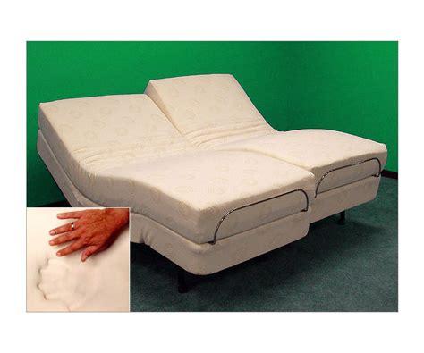 split zero gravity adjustable bed with 10 inch foam mattresses ebay