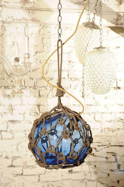 glass buoy pendant light antique japanese fishing float pendant light at 1stdibs