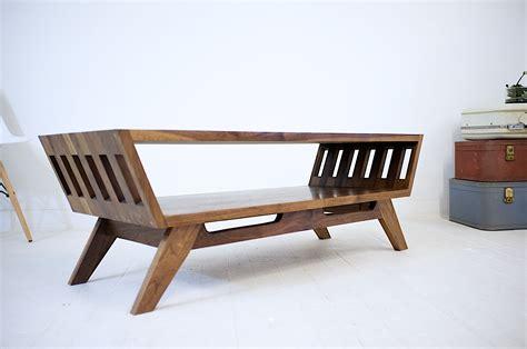 handmade  april solid walnut coffee table