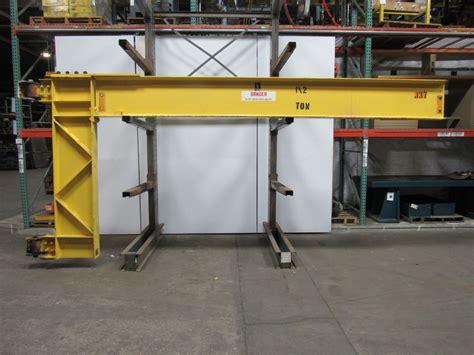 crane wall mount abel howe 2 ton cantilever jib crane wall mount 16 span