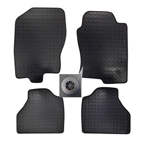 4x front rubber tailored floor mats set w 3 for