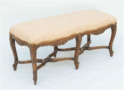 bench french french regence style walnut bench at 1stdibs