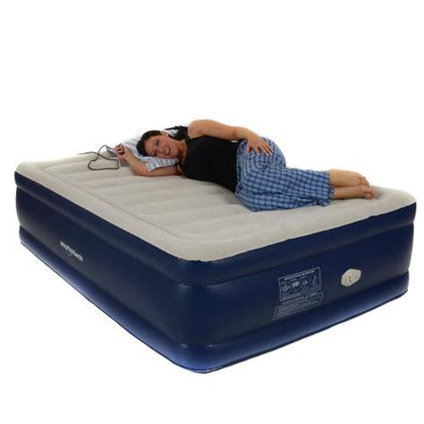 smart air beds platinum full raised air bed  remote