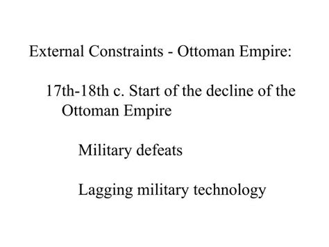 ottoman empire technology ppt constraints on absolute power powerpoint