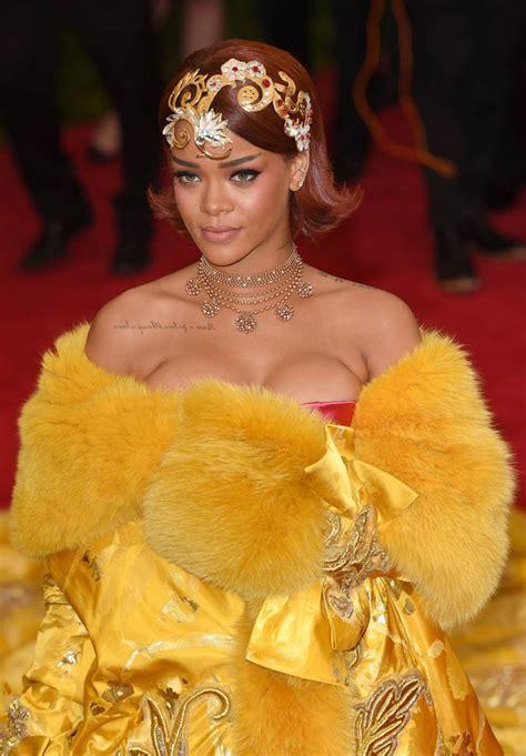 Rihanna at the 2015 MET Gala Lainey Gossip Entertainment