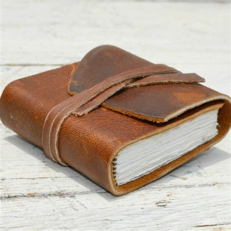 Handmade Leather Bound Books - custom made handmade leather bound pocket notebook mini