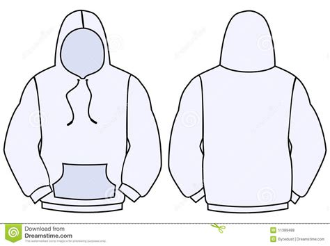 hoodie vector template stock vector image of rear hood