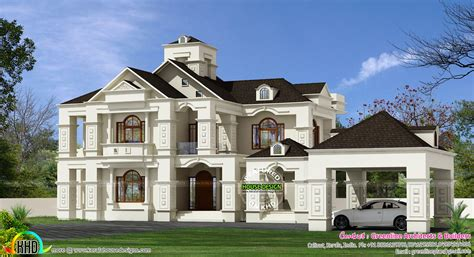 luxury colonial house plans 5 bedroom luxury colonial home 3150 sq ft kerala home design and floor plans