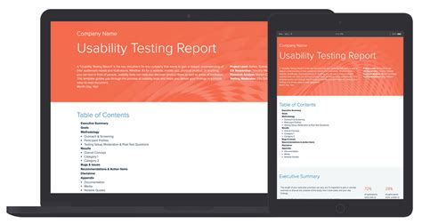 usability testing report template by xtensio it s free