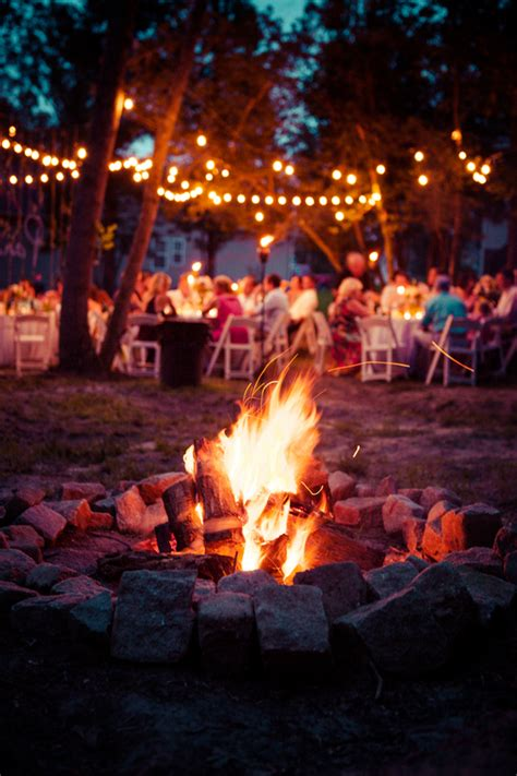 backyard bonfire party ideas paigh kristen s handmade quot p k quot themed backyard wedding