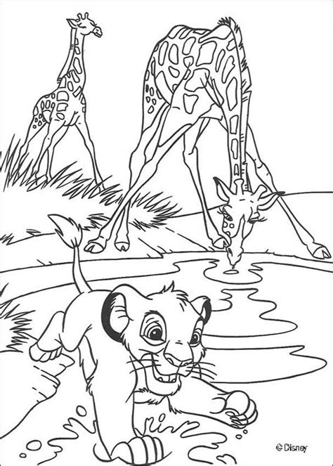 lion coloring page pdf the lion king coloring pages simba with giraffes az