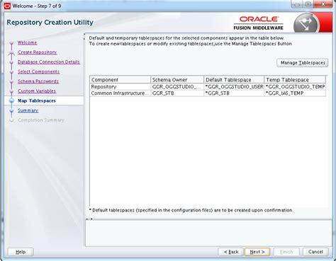 rcu create custom repository journaldev oracle goldengate studio 12 2 1 repository creation