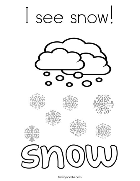 Snow Coloring Pages i see snow coloring page twisty noodle