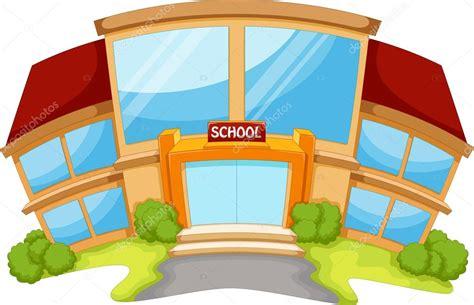 imagenes animadas de una escuela escuela que construye dibujo animado vector de stock