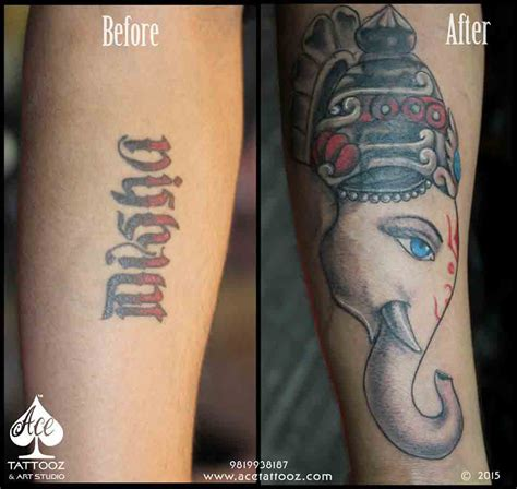 covered in tattoos lord ganesha tattoos ace tattooz studio mumbai india