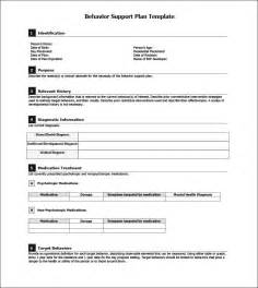 It Support Plan Template by Behavior Support Plan Template Best Template Idea