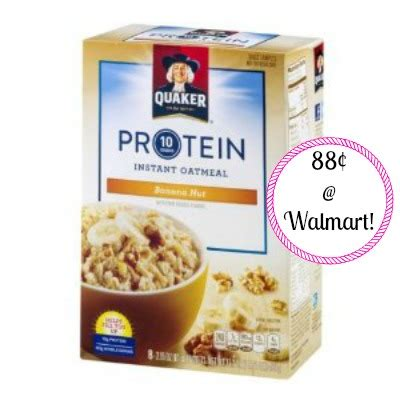 protein quaker oatmeal quaker protein instant oatmeal only 88 162 per box at walmart