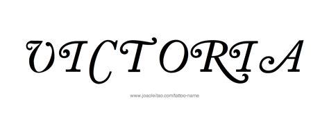 victoria name tattoo designs