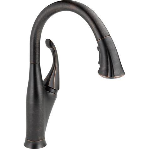 single handle pulldown kitchen faucet leland single handle pulldown kitchen faucet venetian bronze