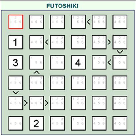 futoshiki logical thinking puzzle