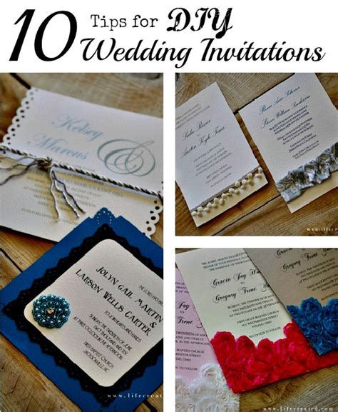 craftaholics anonymous 174 10 tips for diy wedding invitations - Diy Invitations Ideas