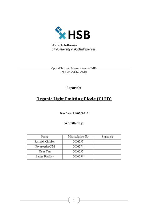 organic light emitting diode research organic light emitting diodes oled pdf available