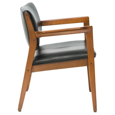 danish modern armchair danish modern dining armchair in black leather for sale at