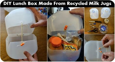 design milk lunch box diy lunch box made from recycled milk jugs goods home design
