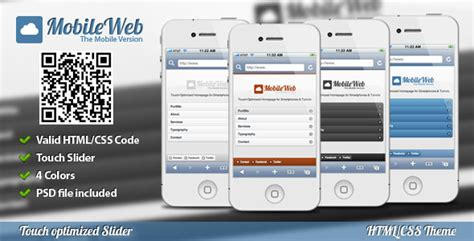 mobile site design template 40 best mobile website templates designmaz