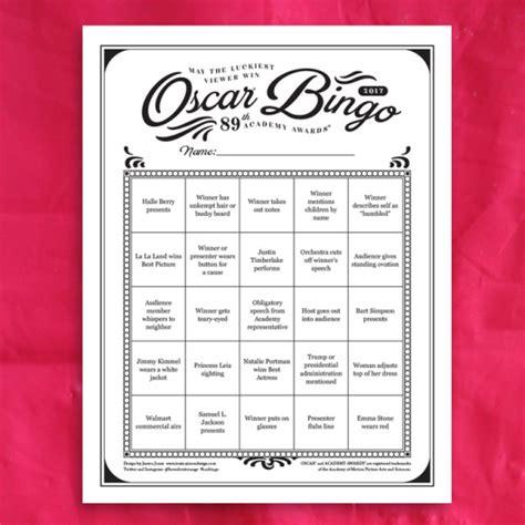 Printable Oscar Bingo Cards 2017 oscar bingo printable oscar jones