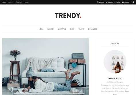 trendy blogger template blogspot templates 2018