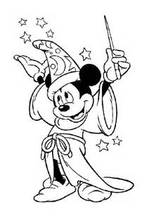 Mickey mouse mickey mouse the magician coloring page