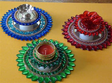 decorative diya and thali set how to make decorative diyas decoratingspecial