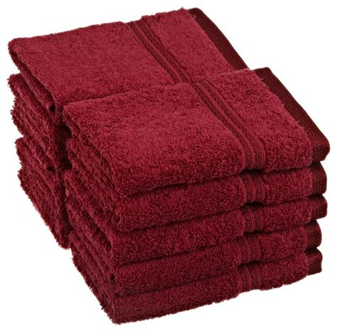 superior egyptian cotton 10pc burgundy face towel set traditional bath towels by blue nile
