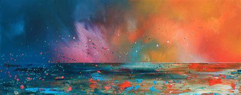 spray painting scotland ardnamurchan summer sunset evening squall scotland