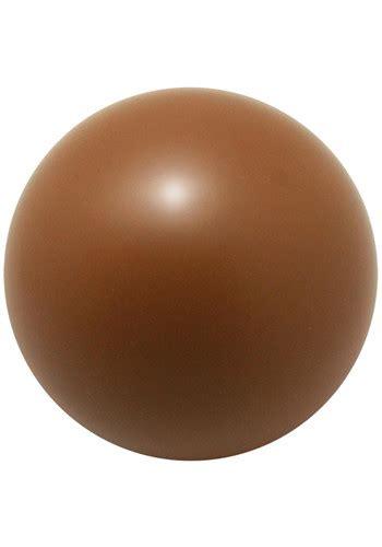 custom stress ball brown logo promotional items
