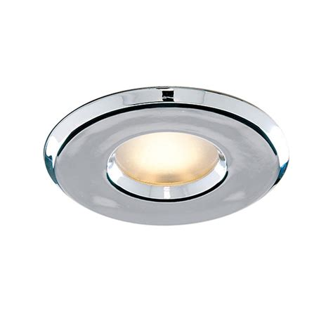 recessed bathroom lights searchlight 802cc ip65 jet proof shower light downlighter
