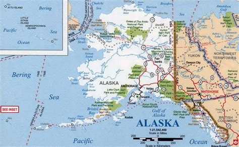 united states of america map with alaska detailed map of alaska state with national parks alaska